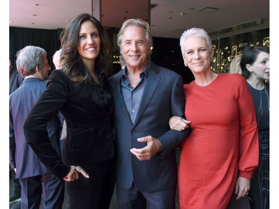 (L-R) Tracy Brennan, Don Johnson and Jamie Lee Curtis attend Entertainment Weekly's Must List Party at the Toronto International Film Festival 2019 at the Thompson Hotel on Sept. 7, 2019 in Toronto.