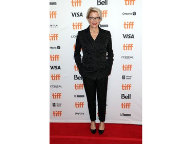 """Annette Bening poses during the Canadian premiere of """"The Report"""" at the Toronto International Film Festival in Toronto, Sept. 8, 2019."""