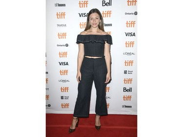 """Sarah Sarandos attends the """"Marriage Story"""" premiere during the 2019 Toronto International Film Festival at Winter Garden Theatre on Sept. 8, 2019, in Toronto."""
