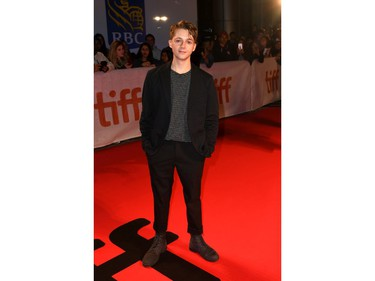"""Gerran Howell attends """"The Song of Names"""" premiere during the 2019 Toronto International Film Festival at Roy Thomson Hall on Sept. 8, 2019, in Toronto."""
