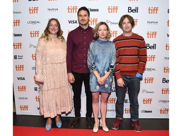 """Dorothea Paas, Kazik Radwanski, Deragh Campbell and Matt Johnson attend the """"Anne At 13,000 Ft"""" premiere during the 2019 Toronto International Film Festival at TIFF Bell Lightbox on September 09, 2019 in Toronto, Canada."""