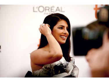 """Priyanka Chopra Jonas attends """"The Sky Is Pink"""" premiere during the 2019 Toronto International Film Festival at Roy Thomson Hall on September 13, 2019 in Toronto, Canada."""