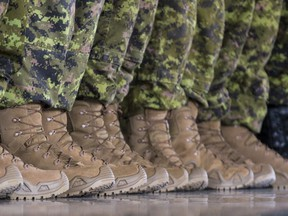 A contingent of Canadian Armed Forces members. Errol McGihon/Postmedia
