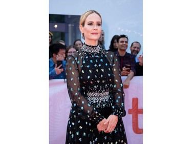 """Sarah Paulson attends """"The Goldfinch"""" premiere at the Roy Thompson Hall during the 2019 Toronto International Film Festival Day 4, Sept. 8, 2019, in Toronto."""