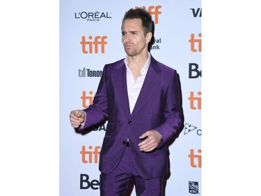 """Actor Sam Rockwell attends the special screening of """"Jojo Rabbit"""" during the 2019 Toronto International Film Festival Day 4 at the Princess of Wales Theatre on Sept. 8, 2019, in Toronto."""