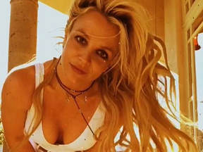 Britney Spears posing for the camera. She has been outspoken about her battle with bulimia. (Instagram)