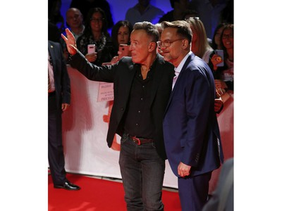 Red carpet for Western Stars (pictured) with American rock legend Bruce Springsteen (L) and director Thomas Zimny during the Toronto International Film Festival in Toronto on Thursday September 12, 2019. Jack Boland/Toronto Sun/Postmedia Network