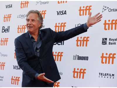 Don Johnson arrives for the special presentation of