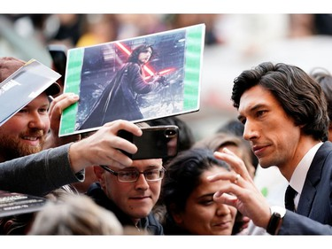 """Adam Driver arrives at the Canadian premiere of """"Marriage Story"""" at the Toronto International Film Festival in Toronto, Sept. 8, 2019."""