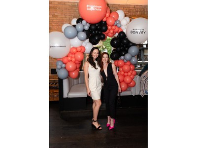 Stephanie Wilcox and guest attend Nordstrom Supper Suite's world premiere party for