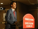 Prime Minister Justin Trudeau was in Toronto to walk the Danforth and announce a program about Stronger Gun Control at the Don Valley Hotel and Suites on Friday, Sept. 20, 2019. (Jack Boland/Toronto Sun/Postmedia Network)