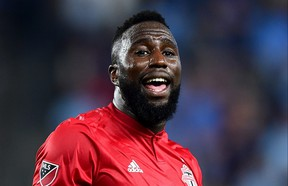 TFC forward Jozy Altidore injured his quad on Sunday. (GETTY IMAGES)