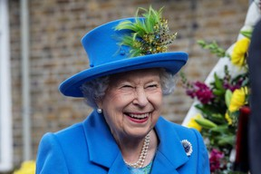 Queen Elizabeth smiles as she visits Haig Housing Trust to open their new housing development for armed forces veterans, in London, Britain October 11, 2019.  Jack Hill/Pool via REUTERS