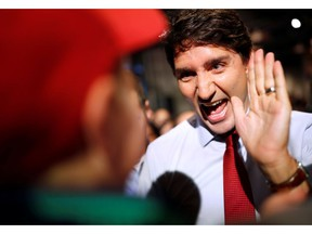 Liberal Leader Justin Trudeau holds a rally during an election campaign visit to Ottawa on October 11, 2019.