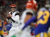 Oct 27, 2019; London, United Kingdom; Cincinnati Bengals quarterback Andy Dalton (14) throws the ball in the first half against the Los Angeles Rams during an NFL International Series game at Wembley Stadium. Mandatory Credit: Kirby Lee-USA TODAY Sports ORG XMIT: USATSI-403268