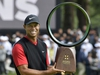 Tiger Woods holds a winning trophy as he celebrates to win the Zozo Championship, a PGA Tour event, at Narashino Country Club in Inzai, Chiba Prefecture, east of Tokyo, Japan October 28, 2019, in this photo released by Kyodo. Mandatory credit Kyodo/via REUTERS ATTENTION EDITORS - THIS IMAGE WAS PROVIDED BY A THIRD PARTY. MANDATORY CREDIT. JAPAN OUT. NO COMMERCIAL OR EDITORIAL SALES IN JAPAN. ORG XMIT: TOK006