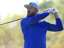 Graham DeLaet hits off the seventh tee during the first round of the Shriners Hospitals for Children Open at TPC Summerlin in Las Vegas, on Thursday, Oct. 3, 2019.