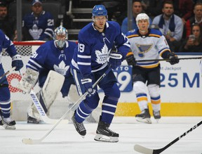 Maple Leafs veteran forward Jason Spezza played in his first home game on Monday night. (Claus Andersen/Getty Images)