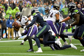 Quarterback Lamar Jackson and the Ravens could have a tough time scoring against the Patriots defence this week. (Photo by Alika Jenner/Getty Images)