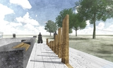 An artist's rendering of an Ontario memorial to honour veterans of the war in Afghanistan is shown in this undated image.