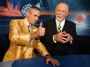 Ron MacLean and Don Cherry on the set of Coach's Corner. GETTY FILE