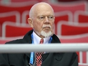 Don Cherry takes in the men's Team Canada hockey practice at the 2014 Olympic Winter Games in Sochi, Russia, on February 11, 2014. Al Charest/Postmedia Network