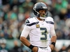 PHILADELPHIA, PENNSYLVANIA - NOVEMBER 24:  Russell Wilson #3 of the Seattle Seahawks looks to the bench during a stop in play in the third quarter against Philadelphia Eagles at Lincoln Financial Field on November 24, 2019 in Philadelphia, Pennsylvania.The Seattle Seahawks defeated the Philadelphia Eagles 17-9. (Photo by Elsa/Getty Images)