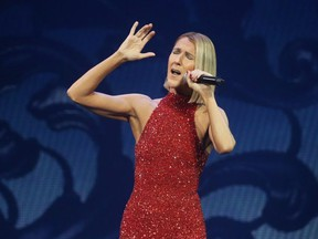 Celine Dion performs at the Canadian Tire Centre in Ottawa, October 15, 2019.  (Jean Levac/Postmedia News)