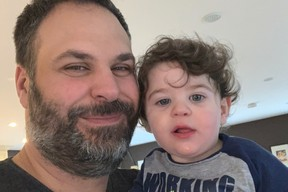 Dad Terry Pirovolakis and son Michael.
