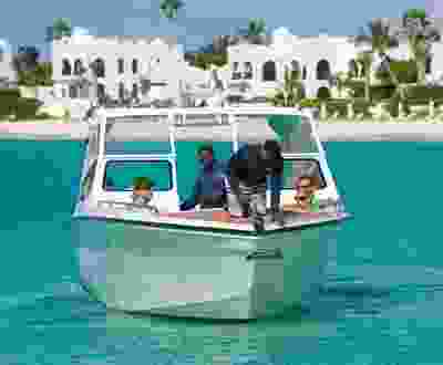 A chartered tour boat prepares to depart from Belmond Cap Juluca Resort in Anguilla