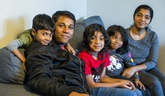 Recent immigrants from India, Varun Muriyanat, his wife Neenu Mary, and their kids, Maria, 8, Saya, 6, and Mathew, 4, at their Scarborough home in Toronto, Ont. on Saturday, Dec. 21, 2019. (Ernest Doroszuk/Toronto Sun/Postmedia Network)