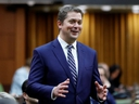 Canada's Conservative Party leader Andrew Scheer announces he is stepping down as party leader in the House of Commons on Parliament Hill in Ottawa, Ontario, Canada, on Thursday, Dec. 12, 2019. (REUTERS/Blair Gable)