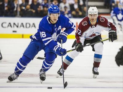 Toronto Maple Leafs Mitchell Marner during 1st period action against Colorado Avalanche at the Scotiabank Arena in Toronto on Wednesday December 4, 2019. Ernest Doroszuk/Toronto Sun/Postmedia