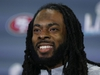 MIAMI, FLORIDA - JANUARY 29:  Richard Sherman #25 of the San Francisco 49ers speaks to the media during the San Francisco 49ers media availability prior to Super Bowl LIV at the James L. Knight Center on January 29, 2020 in Miami, Florida. (Photo by Michael Reaves/Getty Images)