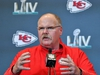 AVENTURA, FLORIDA - JANUARY 30: Head Coach Andy Reid of the Kansas City Chiefs  speaks to the media during the Kansas City Chiefs media availability prior to Super Bowl LIV at the JW Marriott Turnberry on January 30, 2020 in Aventura, Florida. (Photo by Mark Brown/Getty Images)