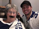 Donna Thomson (left) and Joseph Haire, the man behind the campaign to make Thomson's final wish to meet Auston Matthews come true. (Supplied photo)