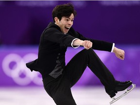 Canada's Keegan Messing competes in the men's single skating free skating of the figure skating event during the Pyeongchang 2018 Winter Olympic Games at the Gangneung Ice Arena in Gangneung on February 17, 2018.