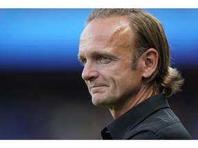 Canada's coach Kenneth Heiner-Moller attends the France 2019 Women's World Cup round of sixteen football match between Sweden and Canada, on June 24, 2019, at the Parc des Princes stadium in Paris.