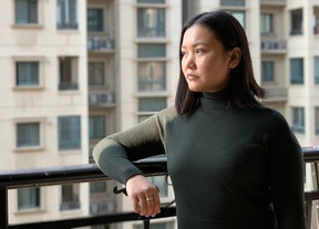 Toronto resident Debbie Lu, 28, in Wuhan, China on Saturday, February 1 2020. Lu is stranded in Wuhan and isn't being permitted passage out of the country on Canadian evacuation flights because she holds permanent resident status in Canada, not citizenship.
