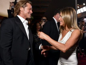 2.0? We can hope. Brad Pitt and Jennifer Ainston are reported on the cusp of a reconnect. Simone says you can too but ask yourself some tough questions. (GETTY IMAGES)