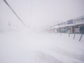 A snowy street is pictured in St. John's, Newfoundland and Labrador, Friday, Jan. 17, 2020.
