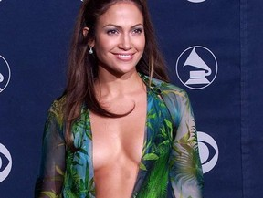 This dress Jennifer Lopez wore to the 2000 Grammys and a twin are hot right now. GETTY IMAGES