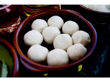 Dough made of corn flour and water are shaped into one-inch balls  before they are pressed into tortillas at the Grand Fiesta Americana Los Cabos All Inclusive Golf & Spa in Cabo San Lucas, Mexico on Wednesday November 20, 2019. Veronica Henri/Toronto Sun/Postmedia Network