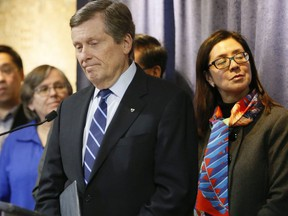 Mayor Tory and other city officials join the  Chinese Canadian National Council for Social Justice to discuss racism associated with the Coronavirus during a press conference on Wednesday January 29, 2020.