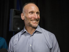 Jays president and CEO Mark Shapiro during an end-of-season media conference at the Rogers Centre in Toronto on October 1, 2019.
