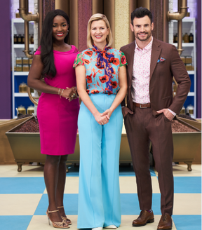 (L-R)British cake designer Cynthia Stroud, famed food star Anna Olson and renowned pastry  chef and chocolatier Steven Hodge are all judges on the hot new Food Network Canada show Great Chocolate Showdown. - Photo Food Network Canada