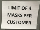 A sign posted on a major retailer last Friday indicated a limit on the number of masks able to be purchased. There was also a limit on hand sanitizers.  ANTONELLA ARTUSO/Toronto Sun