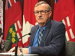 Dr. David Williams, the Chief Medical Officer of Ontario, updates reporters on the coronavirus at Queen's Park on February 3, 2020.