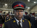 Toronto Police Chief Mark Saunders during a media scrum after a graduation ceremony for 133 new officers held at Fort York Armoury on Thursday, Oct. 3, 2019. (Ernest Doroszuk/Toronto Sun/Postmedia Network)