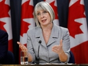 Canada's Minister of Health Patty Hajdu attends a news conference to provide a novel coronavirus update in Ottawa, on Monday, Feb. 3, 2020.